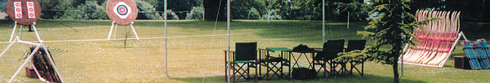 Image: Archery event set up, Archerytech corporate and private events.